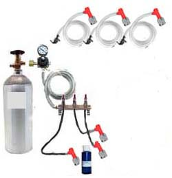3 Keg Basic Homebrew CO2 System (Pin Lock without kegs)