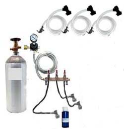 3 Keg Basic Homebrew CO2 System (Ball Lock without kegs)