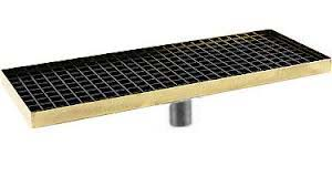 "15"" Surface Mount Drip Tray (brass) w/Drain"