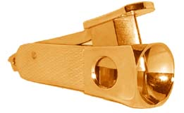 German made Key Chain Gold Cigar Cutter (2 1/4 inch long).