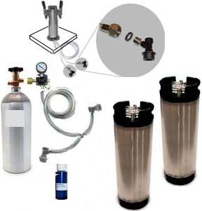 2 Keg Homebrew Freezer CO2 System w/Draft Tower (Ball Lock)